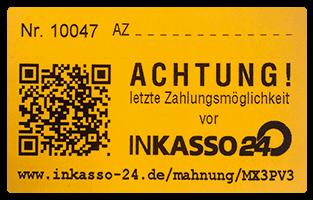 Mahnaufkleber Mit Qr Code Kunden Zahlen Schneller Inkasso 24 Ag